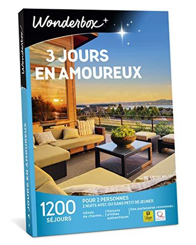 Wonderbox – Coffret cadeau duo - 3 JOURS EN AMOUREUX –...