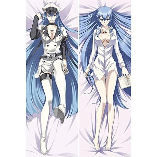 FUTYE Capa de almofada de corpo anime, capa de almofada decorativa anime, jogo de anime japonês Akame Ga Kill Night RAI Hug Body capa de almofada Dakimakura masculina abraçando corpo DDZZYY