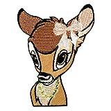 Bambi cabeza Disney animal niños – marrón - Parches termoadhesivos...