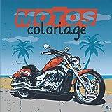 Motos: Livre de coloriage | 40 dessins pour adultes et enfants à partir de 7 ans | 84 pages