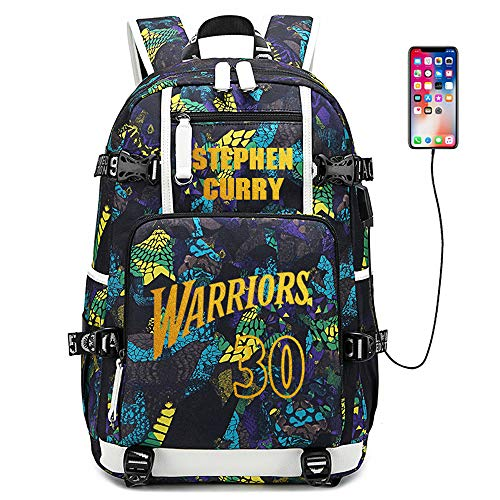 Lorh s store Jugador de Baloncesto Estrella Stephen Curry Mochila multifunción Estudiante de Viaje Mochila para fanáticos para Hombres Mujeres (Estilo 4)