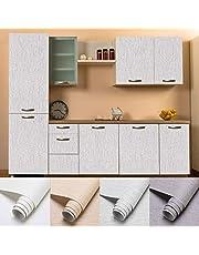 LC&TEAM Behang verdikte plakfolie, zelfklevend, meubelfolie, wandbehang, mat, meubelsticker, 60 x 500 cm, waterbestendig, doe-het-zelf decoratieve folie voor woonkamer en kast