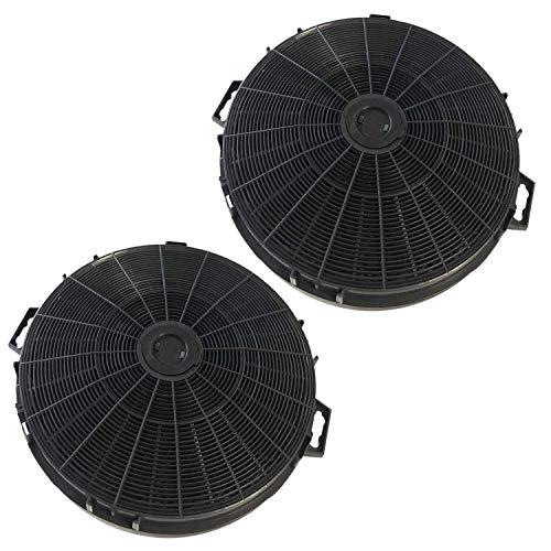 2 Stück Sparset Aktivkohlefilter AFC-100 durchmesser Ø 210 mm (mit Adapter Ø 240 mm) universal geeignet für viele Dunstabzugshauben wie Bosch Balay Constructa Siemens Neff Respekta MI 160N etc.