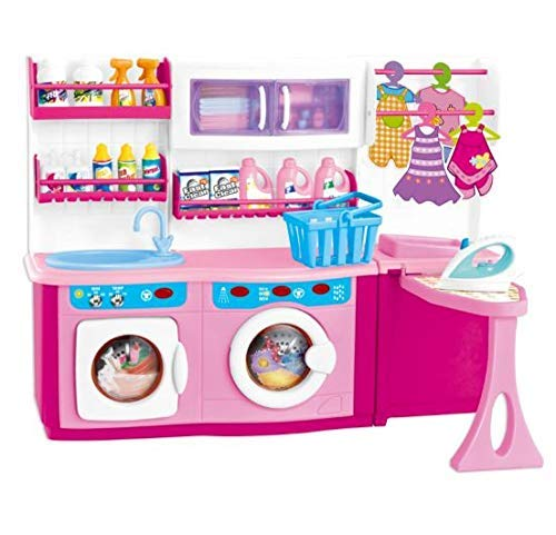 MeeYum Pretend Play Mini Wash, Dry and Iron Laundry Set
