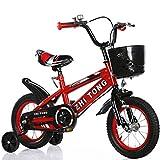 QWG Bicicletta per Bambini da 18 Pollici di Nuova Moda di Colore Bicicletta per Bambini Confortevole e sicura Materiale Regolabile in Lega di Alluminio 12 Anni Bicicletta per Bambini