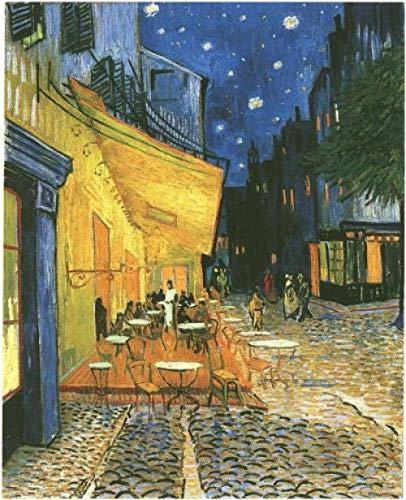 FSFF Malen nach Zahlen für Erwachsene Kinder - Van Goghs Nachtcafé - DIY Digitales Malen nach Zahlen Kits auf Leinwand