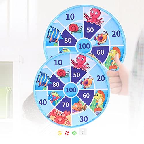 Jouet de cible de fléchettes pour enfants, jouet cible de balle à boucle portable, jeu de cibles de fléchettes pour enfants, jouet de balle à boucle pour la maison pour la maternelle pour((ocean))