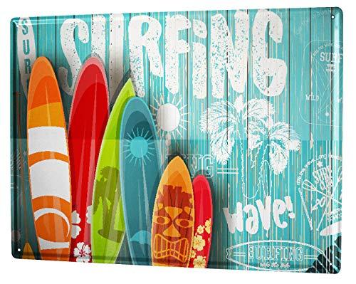 LEotiE SINCE 2004 Blechschild Nostalgie Surfen Surfklub Wellenreiten