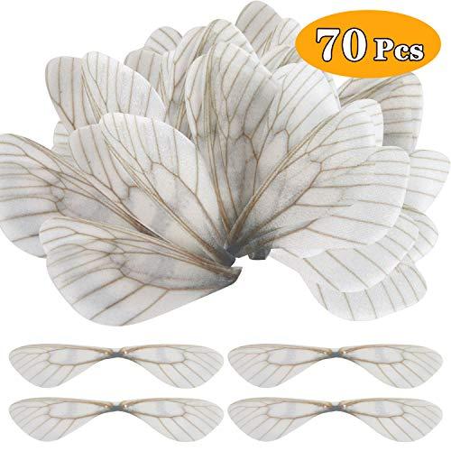 70pcs Dragonfly Wing Charms DIY Wings for Flying Keys Earrings Pendant