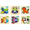 6-Pack TGHJ Toddler Wooden Animal Jigsaw Puzzle