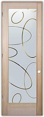Glass Front Entry Door Sans Soucie Art Glass Ovals Overlap Negative