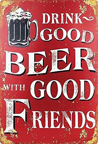 Generisch Blechschild 20x30 cm Retro Bier Geschenk Magnet-Metall-Schild mit Sprüchen Vintage lustige Türschilder Bier Nostalgie Schild Deko Bar-Schild Beer Motiv