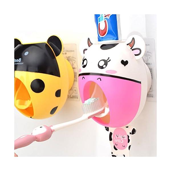 bebé niños creativos dibujos animados pasta de dientes automático dispensador,