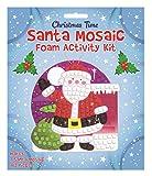 Kit para hacer mosaicos de Papá noel con purpurina para decorar calcetines de niños.