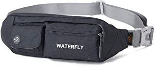 Waterfly Fanny Pack Slim Soft Polyester Water Resistant Waist Bag Pack for Man Women..