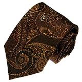 LORENZO CANA - Luxus Krawatte aus 100% Seide - braun mocca hellbraun Paisley - 36018