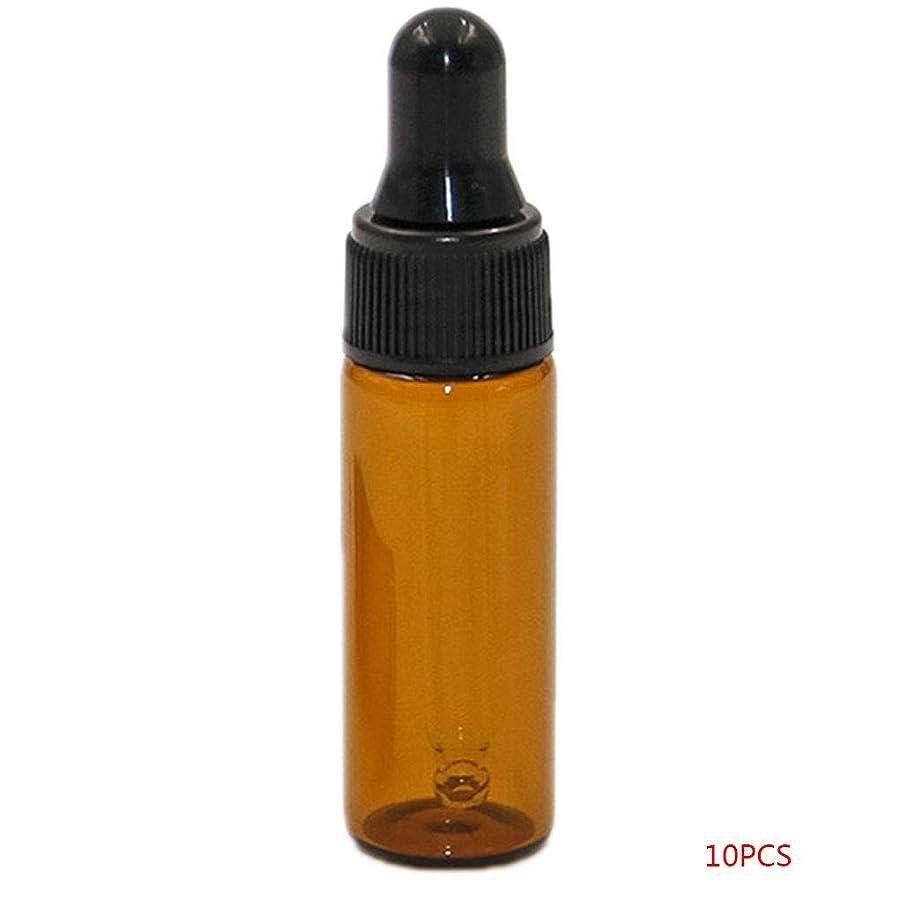 やけど淡い粘土TopFires アロマオイル 精油 小分け用 遮光瓶 セット 茶 ガラス アロマ ボトル オイル 用 茶色 瓶 ビン エッセンシャルオイル 保存 詰替え 瓶 ビン