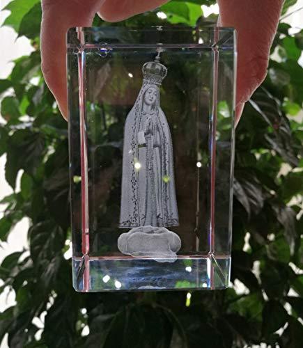 ANH19 Estatua para decoración Casa Talisman católica católica católica Iglesia Madonna decoración del hogar Virgen María bendita Nuestra Señora de la Fatima 3D Estatua de Cristal