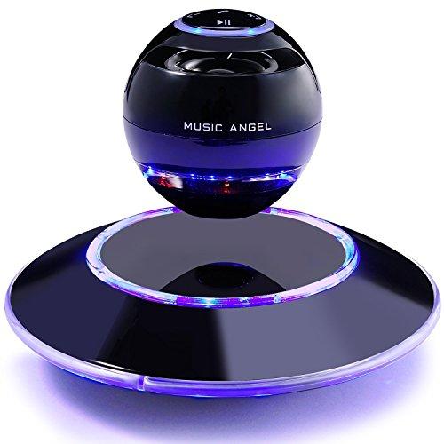 Black Music Angel JH-FD19 Levitating Portable Wireless Bluetooth Speakers (Black)