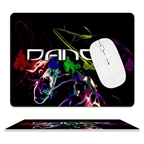 Dance Desktop and Laptop Leather Mouse pad 1 Pack 25x20x2cm/9.8x7.9x0.8inch