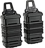 Evike Airsoft - Fast Hard Shell Magazine Holsters Set of 2 for MP7 MP5 Pistol SMG (Color: Black)