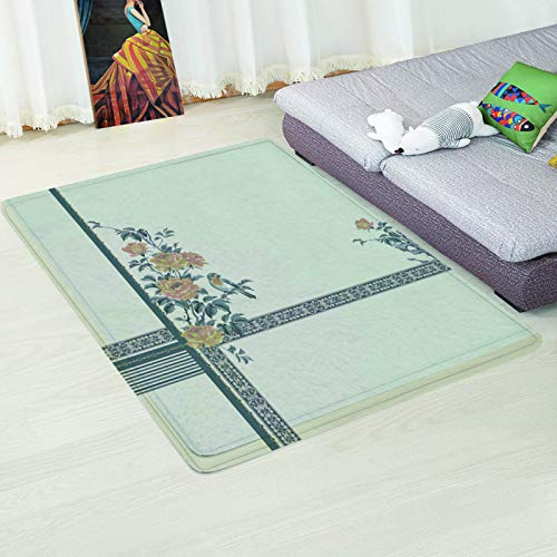 MMHJS European Style Simple Chinese Style 3D Floor Mat Anti-Slip Padded Desk Sofa Carpet Bedroom Hotel Living Room Homestay Party Carpet