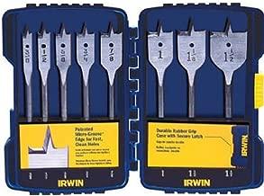 IRWIN Tools SPEEDBOR Blue Groove Pro Spade Bit Set with Case, 8-Piece (341008)