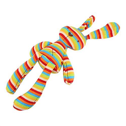 Hztyyier Muñecas de Peluche rellenas de Animales con 100% algodón Tejido Colorido Conejo de Peluche de Felpa, Tinte Natural sin colorante para niños durmiendo