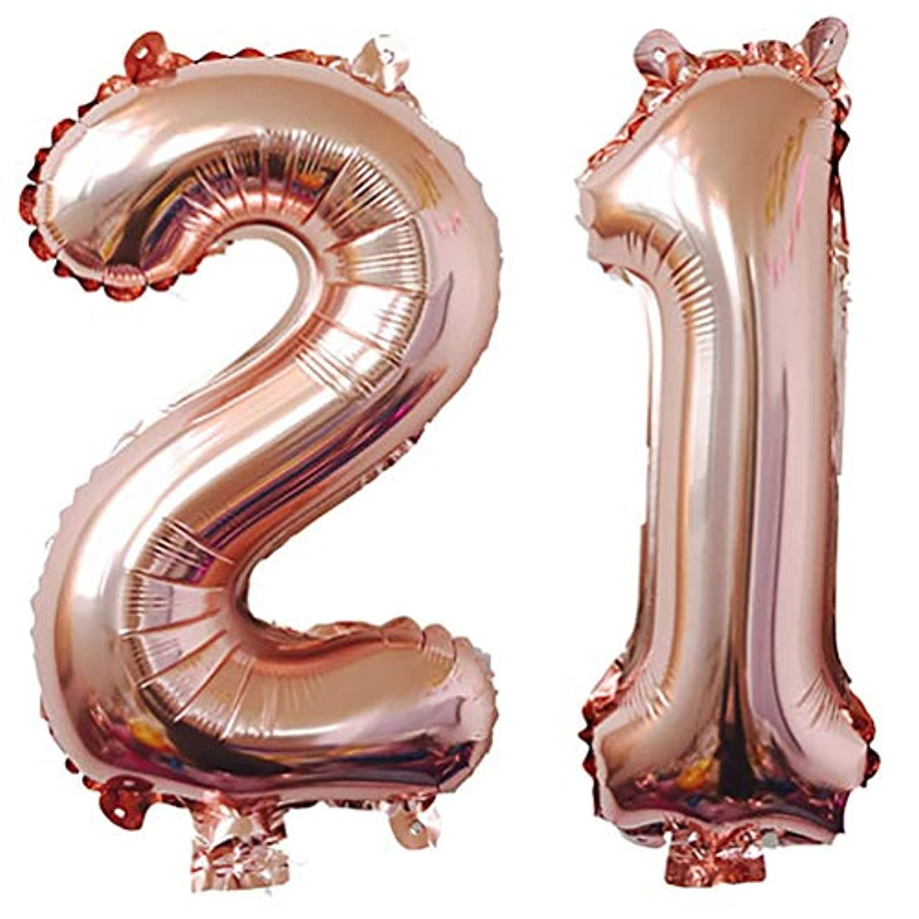 AZOWA Big 21 Balloons Jumbo Number 21 Balloons Rose Gold for 21th Birthday Party Decorations (Rose Gold, 40 in)