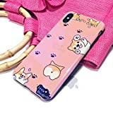 CaserBay iPhone Case Trendy Aurora Gradient Blue Light Glossy Look Reflective Flexible TPU Soft Phone Case Welsh Corgi for 6.1 inch iPhone XR