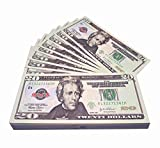 Movie Prop Money Full Print 2 Sided, Play Money 100 pcs 20 Dollar Bills for Movies,Kids and Party