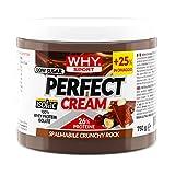 WHY SPORT Perfect Cream alla Nocciola Crunchy Rock con granella di nocciola - Crema proteica senza zucchero. Formato da 750g.