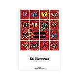 Ed Sheeran Poster = Albumcover 1 Leinwand-Poster,