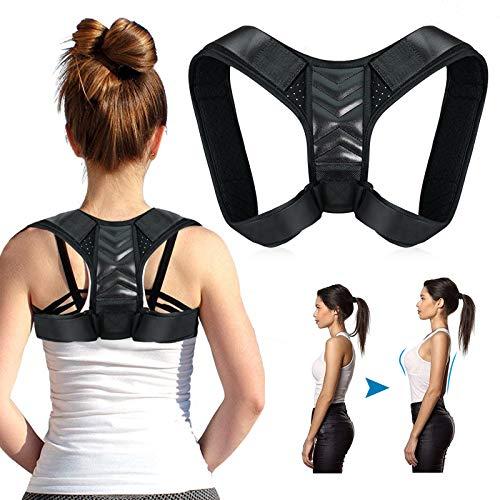 Haltungskorrektor,Rückenhaltungskorrektur, Physiotherapie, Haltungsbandage für Männer oder Frauen – Rücken-, Schulter- und Nacken-Schmerzlinderung – Rückenbandage mit verstellbarem