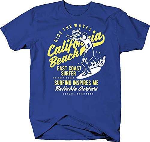 SLA-T Camiseta Ride The Waves en California Beach para The East Coast Surfer