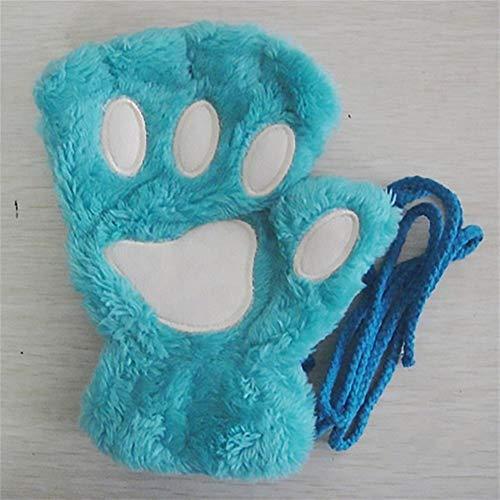 Trendy huishouden Winddichte Handschoenen Vrouwen Meisjes Mode Mooie Kat Paw Cartoon Handschoenen Winter Pluche Warme Handschoenen Dames Half Vinger Wrist Wanten Geschenken voor Haar