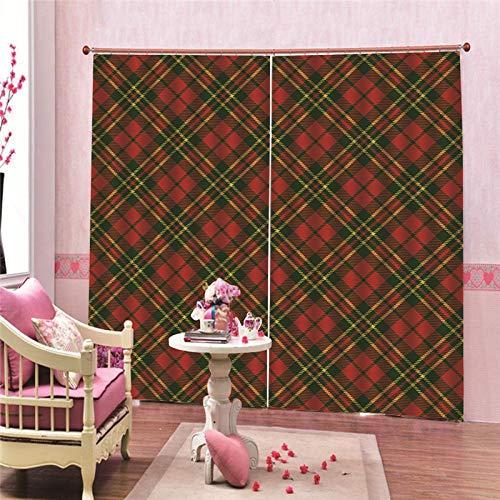 JcurtainC Gordijnen, ondoorzichtig, warmte-isolerend, eenvoudig patroon, gordijnen voor slaapkamer, woonkamer, kinderkamer, decoratief gordijn, raamdecoratie
