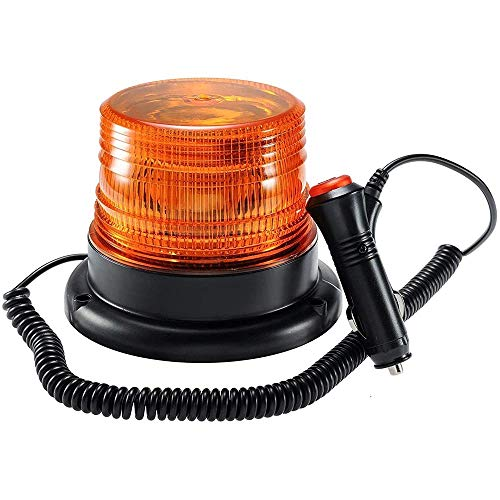 UTDKLPBXAQ Luz de Advertencia LED, baliza, Luces Duradera giratoria magnéticas, Luces de Advertencia de Emergencia a Prueba de Agua para Remolque de camión de vehículo de Motor