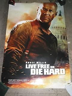 LIVE FREE OR DIE HARD / ORIGINAL U.S ONE-SHEET MOVIE POSTER (BRUCE WILLIS)