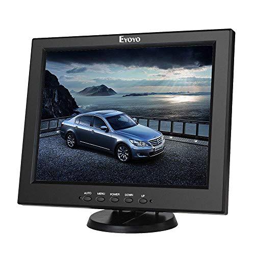 Eyoyo 12 Inch HDMI Monitor with BNC VGA AV HDMI Input 800x600 Portable 4:3 TFT LCD Mini HD Color Screen with Bulit-in Speaker
