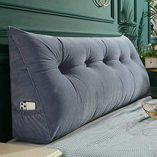 ed3cu6 Lumbar Pillows Back Cushion sofa bed triangular reading cushion velvet pad headboard backrest tilt cushion resting pillow cozy sofa daybed lumbar support removable washable