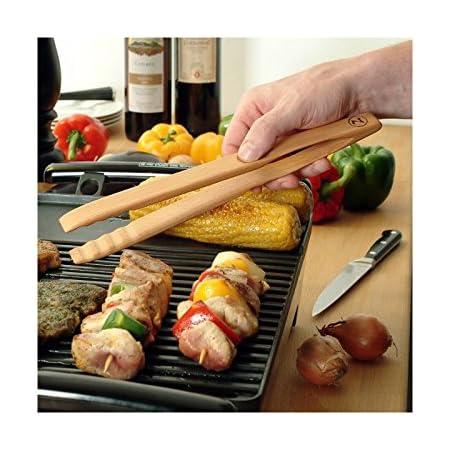 Kitchen tongs barbecue tongs Zetzsche wooden 30 cm Mitienda