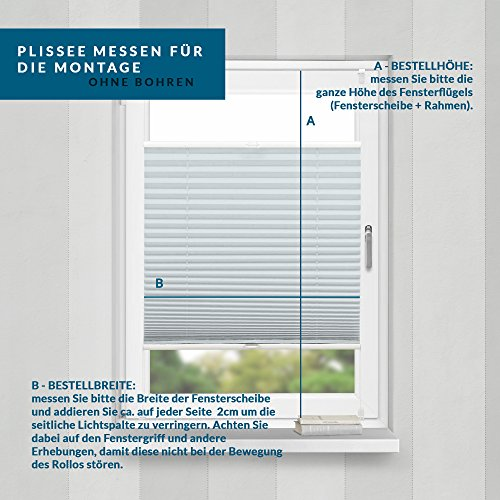 Plissee Silber HOME-VISION - 9