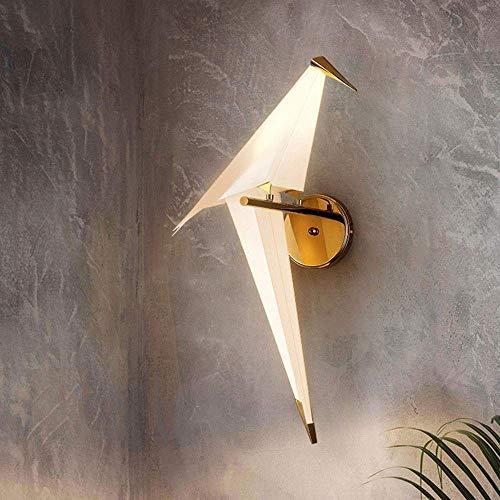WEM Decoración de Pared Lámparas de Pared, Candelabro Origami Birds Candelabros Bar Comedor Sala de Estar Dormitorio Lámpara de Pared Artístico Creativo Dormitorio Lámpara 1 * E27 Fuente de Luz 67 *