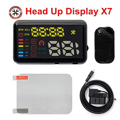 Best Design X7 Car Styling Universal Car hud Head up Display Speedometer Smart Digital car Speedometer OBD2 Interface