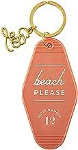 Pink Beach Please Vintage Motel Key Tag, 3 1/2 Inch