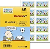Markenset Peanuts Rasselbande 10er Set 0,90 Cent selbstklebend Standardbrief international