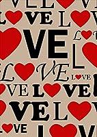 igsticker ポスター ウォールステッカー シール式ステッカー 飾り 1030×1456㎜ B0 写真 フォト 壁 インテリア おしゃれ 剥がせる wall sticker poster 010743 英語 LOVE ハート