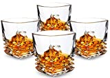 KANARS Pacific Whiskey Glasses set of 4. Premium Lead Free Crystal...