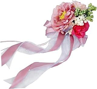 3901a6ab9 Baoblaze Encajes de Flores para Nupcias Adornos de Coches - Rosa Empolvado,  30 x 15